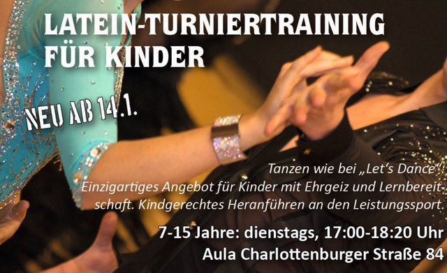 Latein Turniertraining für Kinder